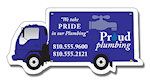 Deliver Truck Shape Magnets